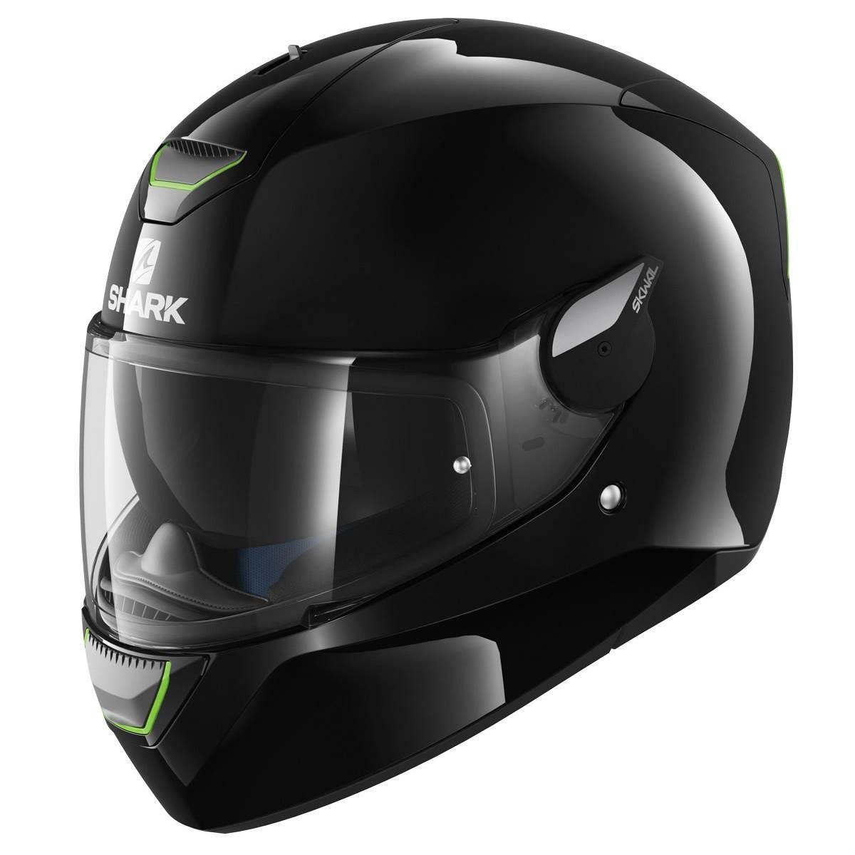 Shark Skwal Blank Black Motorcycle Helmet Built In Lighting Pinlock Insert Ebay